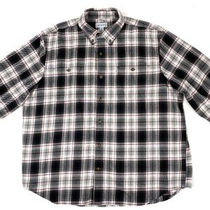 Carhartt relaxed fit mens flannel shirt.